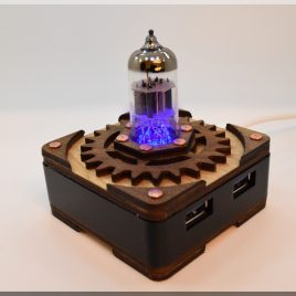 Handmade BLUE Triode Hi-Speed 4 ports USB 3.0 HUB. Steampunk/Industrial