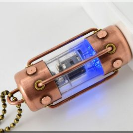Handmade 8/16/32/64GB BLUE Arc pentode usb flash drive. Steampunk/Industrial
