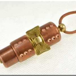 Handmade 8/16/32/64/128GB Copper Flash Drive with brass bow. Steampunk minimalism