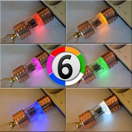 Handmade 8/16/32/64/128GB Pentode radio vacuum tube USB flash drive with chain. Steampunk/Industrial