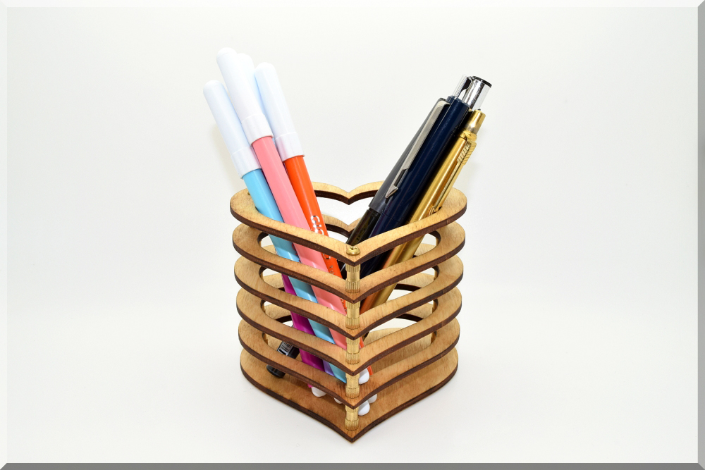 desk us bamboo office natural cup pencil wood stand pen holder