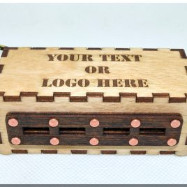 Custom Personalized Wooden 4 ports USB HUB with Customized engraved logo and text.